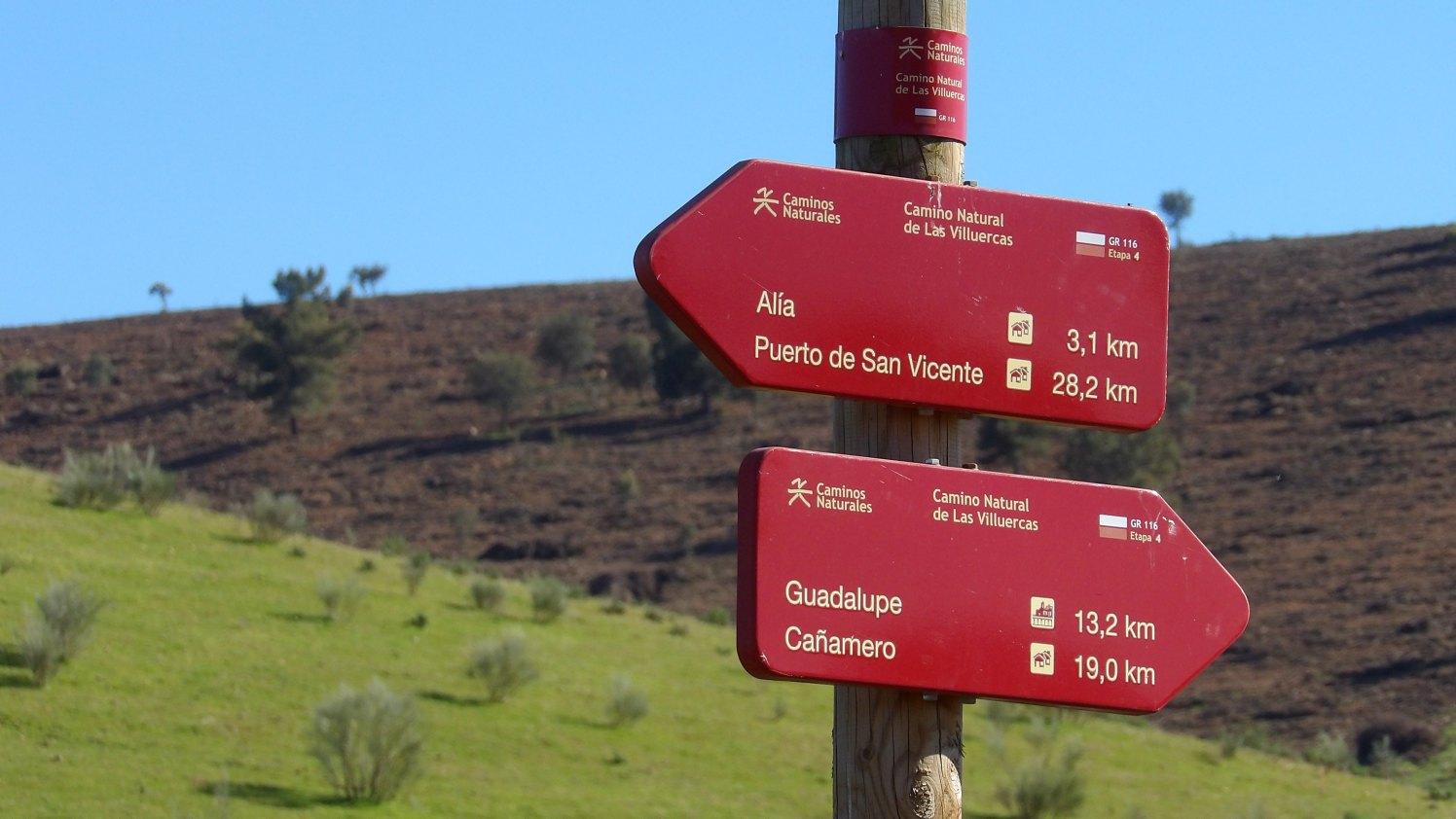 kilómetros del geoparque Villuercas