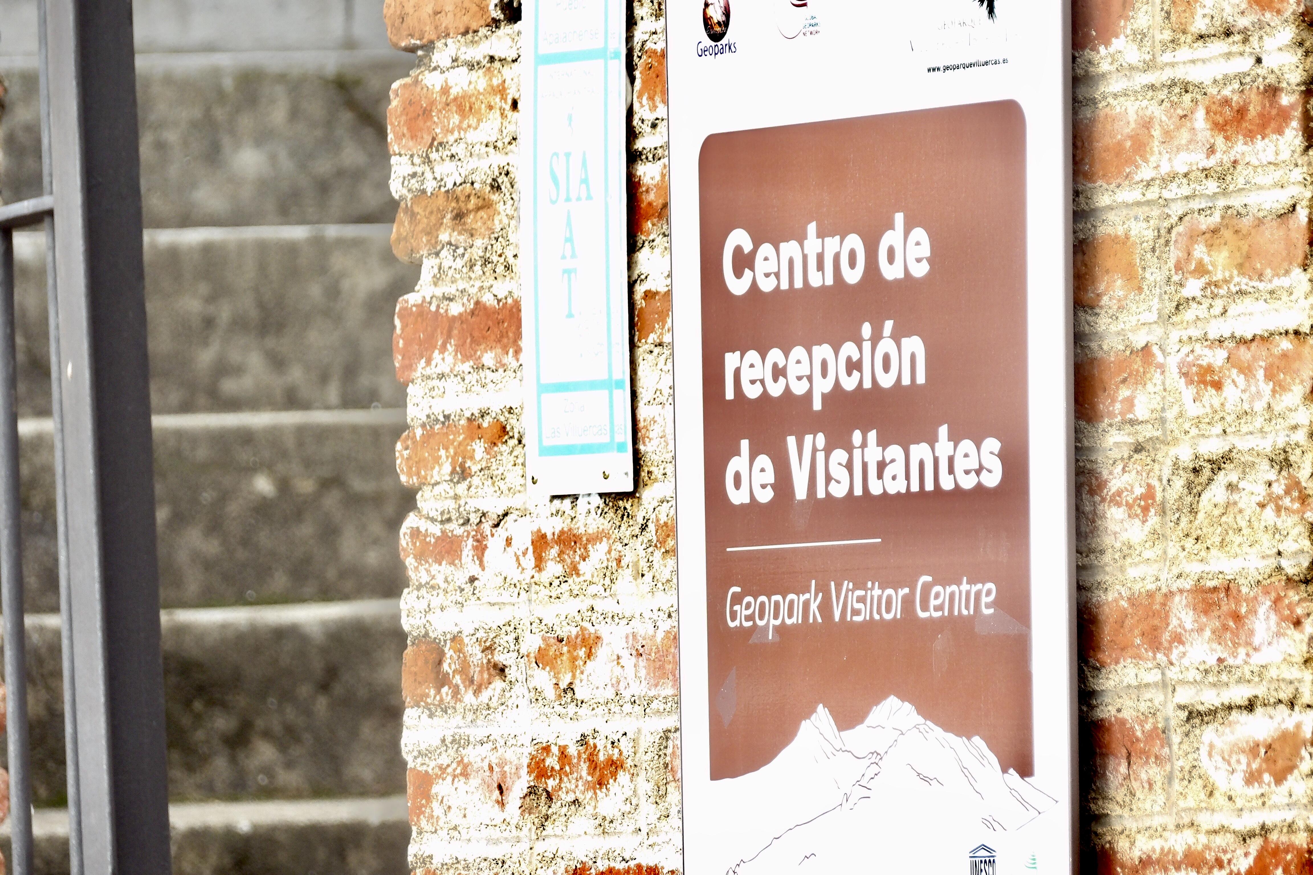 Entrada al centro de interpretación de Cañamero