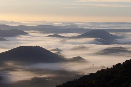 Nubes sobre el Geoparque Villuercas. Foto Carlos de Rodrigo