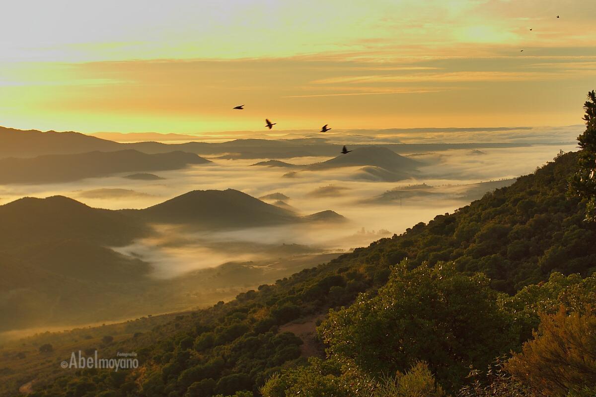 Amanecer en la Sierra de la Palomera, Geoparque Villuercas-Ibores-Jara